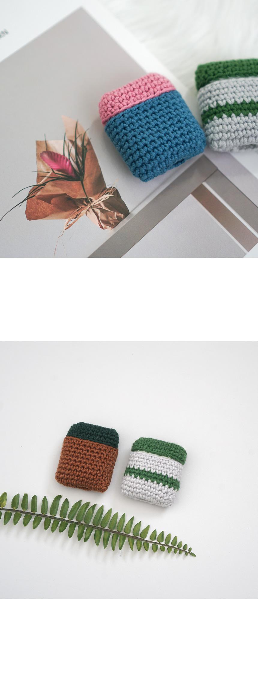 젤라또 에어팟 케이스 - 코바늘 키트 - 슬로우모먼츠, 16,000원, 뜨개질, 소품 패키지