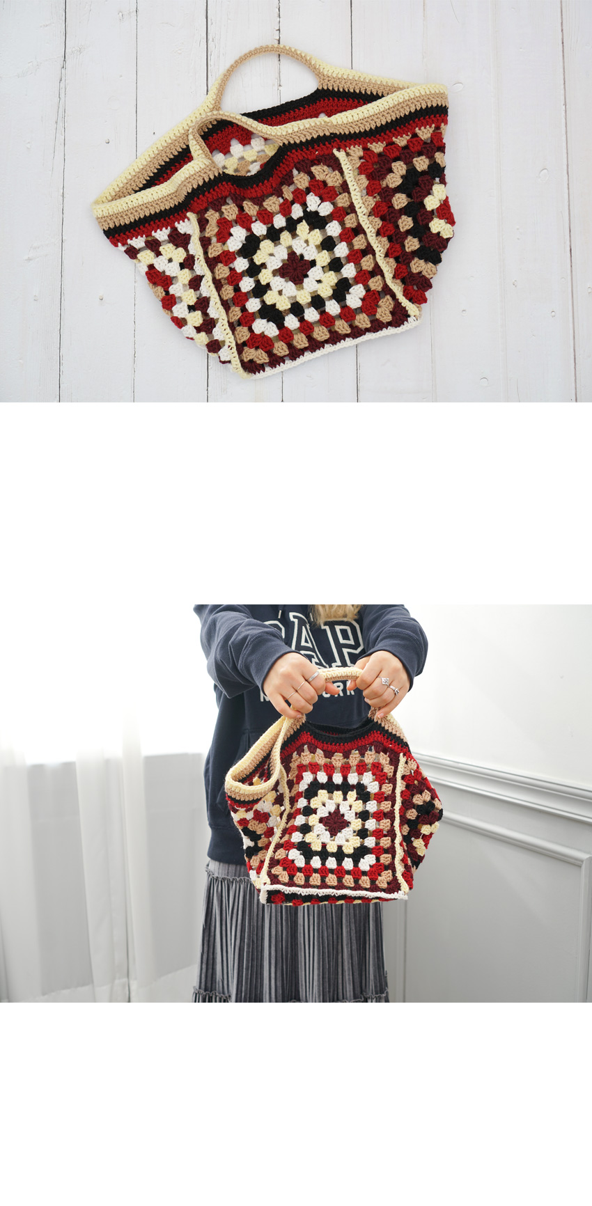 코바늘 키트 - 그레니 스퀘어백 - 슬로우모먼츠, 46,350원, 뜨개질, 소품 패키지