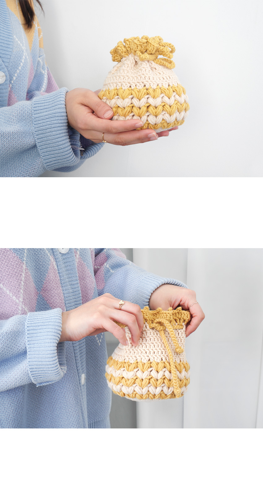 한입 만두 파우치 - 코바늘 키트 - 슬로우모먼츠, 16,560원, 뜨개질, 소품 패키지