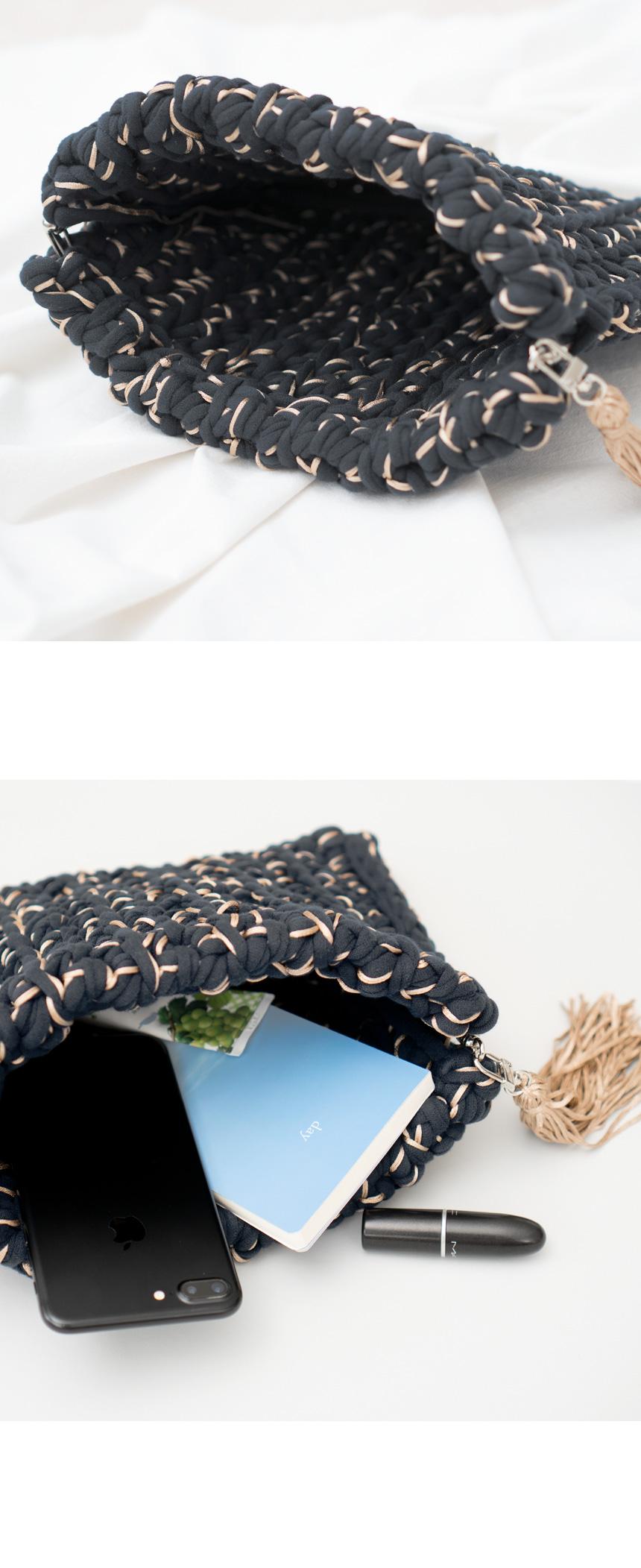 가방 육각 바네 - 28cm - 슬로우모먼츠, 9,000원, 뜨개질, 뜨개질 부자재